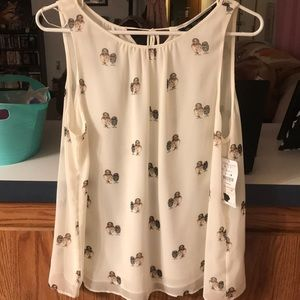 Zara Owls blouse